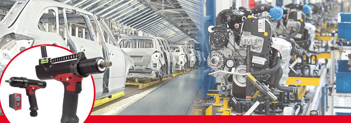 ¡Las productores de carros aceleran su cambio de herramientas neumáticas a herramientas eléctricas que no tengan reacción!