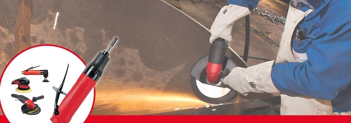 Descubra el esmeril de punta creado por herramientas indsutriales Desoutter. Una gama completa de esmeriles neumáticos para mejorar su productividad. ¡Pida una cotización!